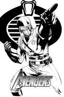 Sketch Cover Cobra Commander SOTD by RobertAtkins