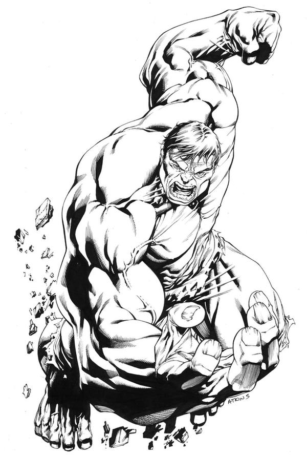 Incredible hulk sotd by robertatkins on deviantart for Coloring pages incredible hulk