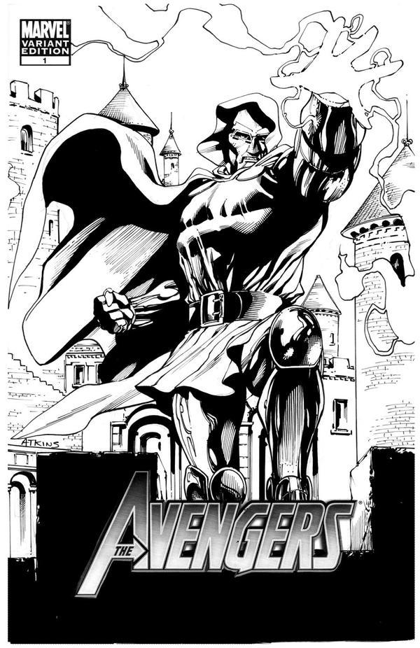 Sketch Cover Dr Doom SOTD by RobertAtkins