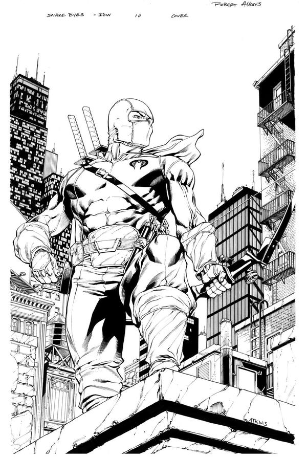 Snake Eyes 10 Cover inks Storm Shadow by RobertAtkins