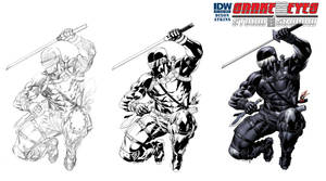 Snake Eyes Storm Shadow 13 cover process