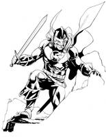 Avengers April Black Knight by RobertAtkins