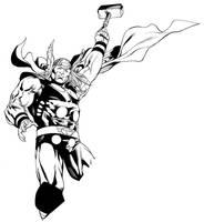 Avengers April Thor inks SOTD by RobertAtkins
