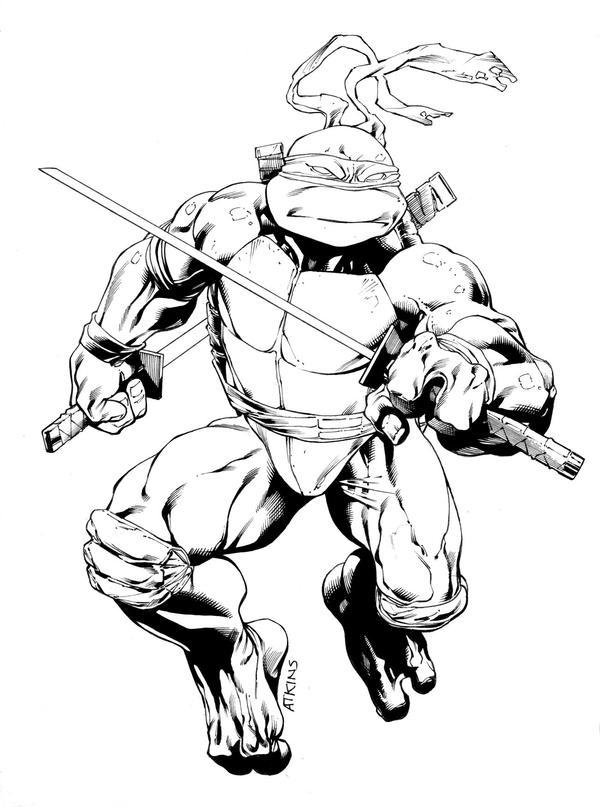 Line Art Ninja Turtles : Leonardo tmnt sotd inked by robertatkins on deviantart