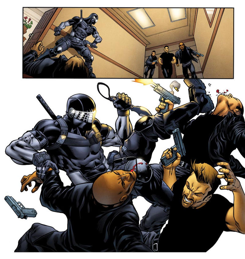 Snake Eyes vs Goons panel by RobertAtkins