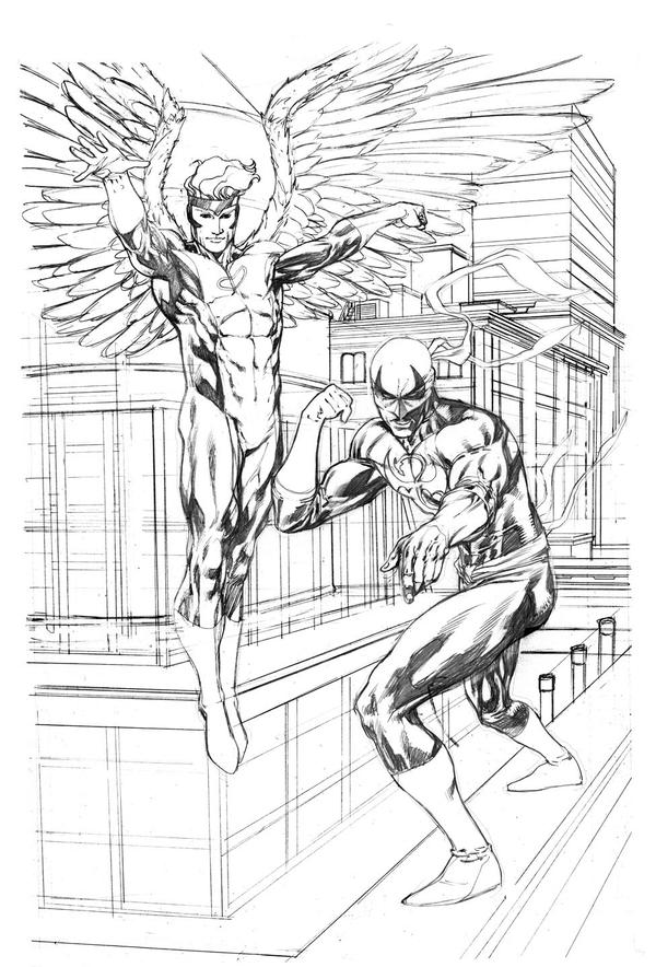 Angel and Iron Fist commission SOTD by RobertAtkins