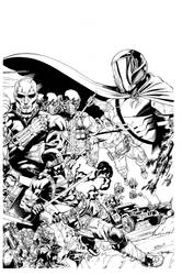 Snake Eyes and Storm Shadow 17 Cover inks by RobertAtkins
