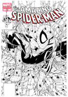 Amazing Spiderman McFarlane cover recreation by RobertAtkins