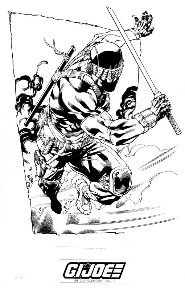 IDW Signature Plates GI JOE  Snake Eyes by RobertAtkins