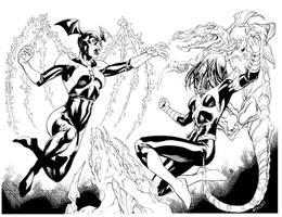 Bleeze Vs Karu Sil Lantern Girl fight by RobertAtkins