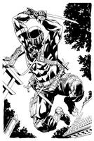 Snake Eyes inks by RobertAtkins