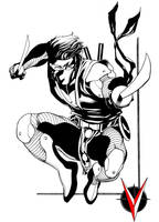 Ninjak Valiant sketch by RobertAtkins
