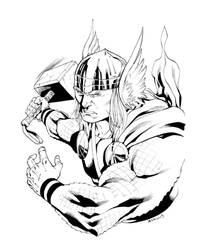 Thor con sketch by RobertAtkins