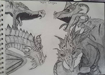 The Dragons Of Skyrim by NoodleNoo