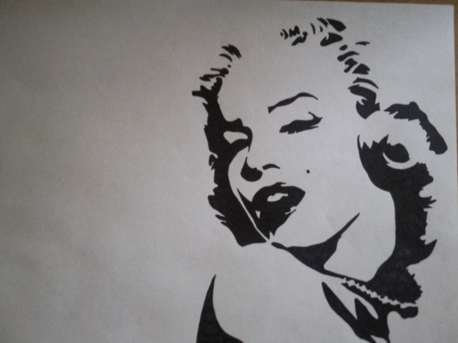 Marilyn Monroe Face Silhouette Tattoo Marilyn monroe face outline