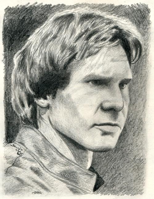 Han Solo sketch by SvenjaLiv
