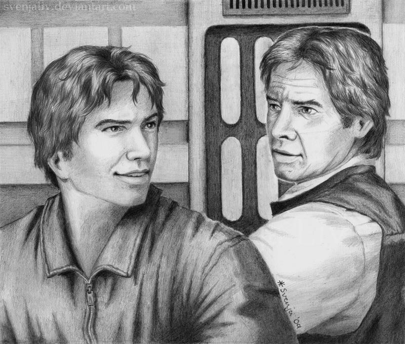 Jacen and Han Solo by SvenjaLiv