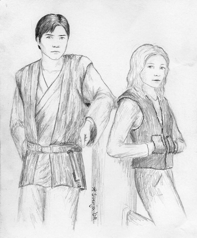 Young Jedi - Anakin and Tahiri by SvenjaLiv