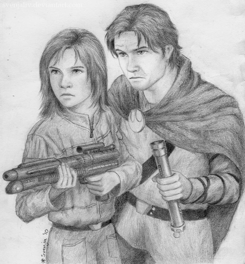 Kyp and Jaina by SvenjaLiv