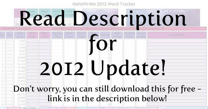 NaNoWriMo 2012 tracker