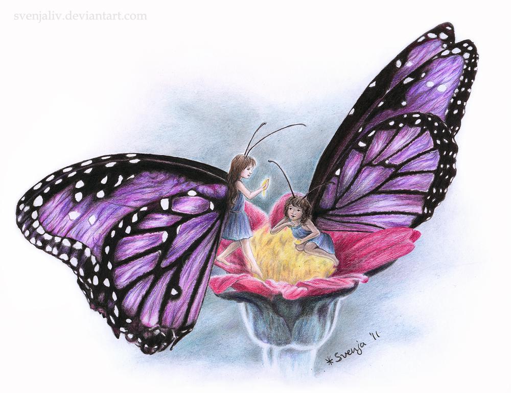 Butterfly Fairies by SvenjaLiv on DeviantArt