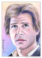 Han Solo ACEO by SvenjaLiv