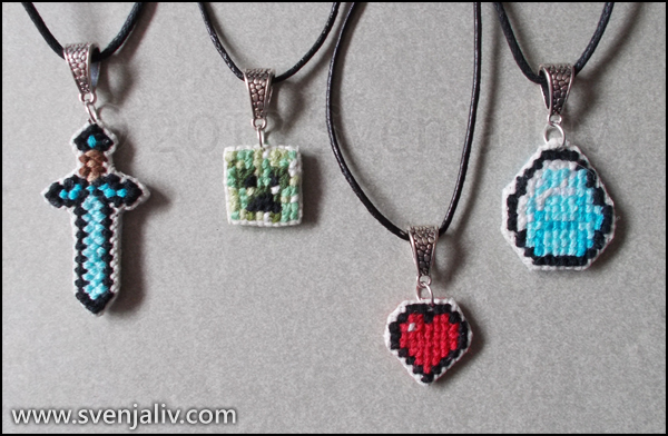 Minecraft Pendants By SvenjaLiv ...