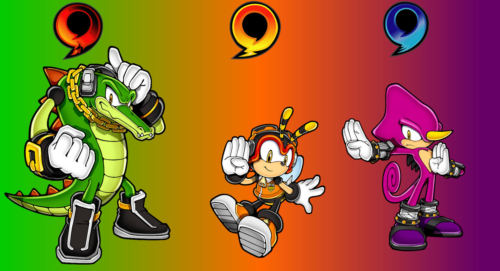 Team Chaotix Wallpaper by donamorteboo on DeviantArt