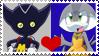Bokkun x Pearly stamp by donamorteboo