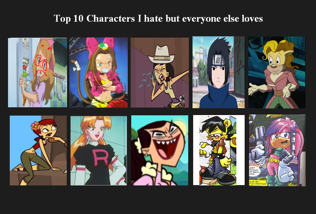 Anime Characters Everyone Hates : Top characters i hate and dislike by donamorteboo on