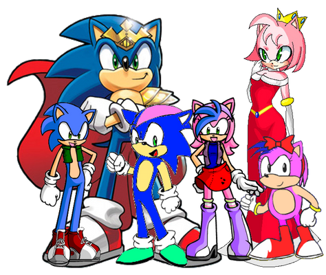Sonamy Family (in mobian form)
