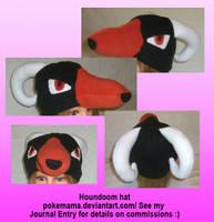 Houndoom hat by PokeMama