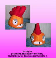 Scrafty hat by PokeMama