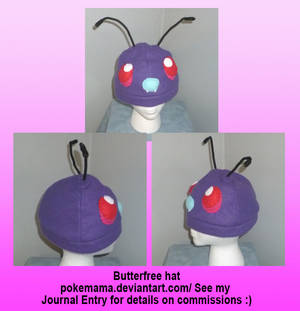 Butterfree hat (no wings)