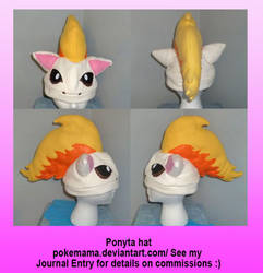 Ponyta hat by PokeMama
