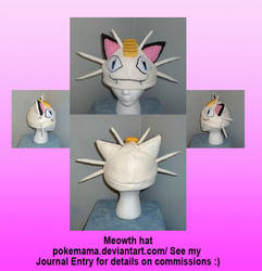 Meowth hat by PokeMama