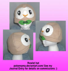 Rowlet hat by PokeMama