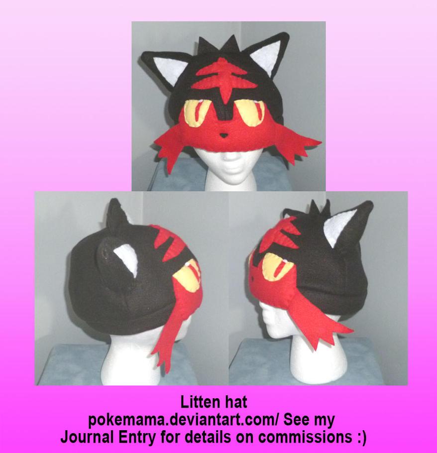 Litten hat by PokeMama