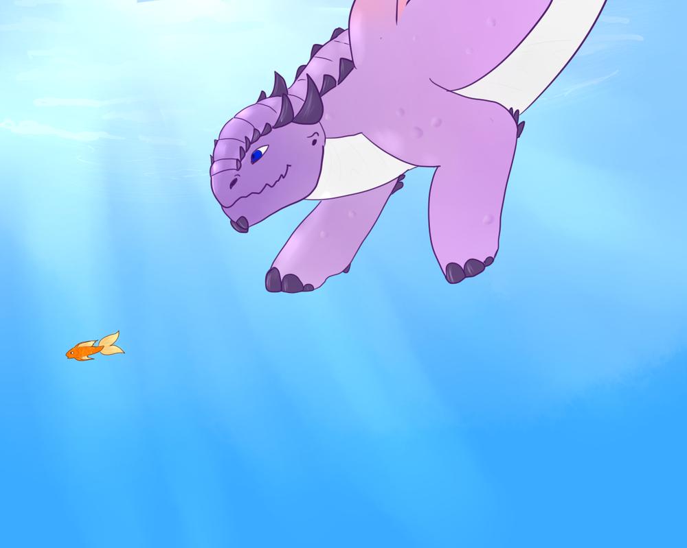Swim Swim by Bluiestar