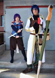Akatsuki and Shiroe by GinHans