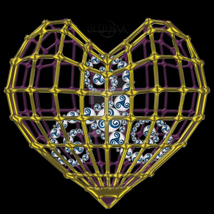 Coeur-Cage-a Triskel by Bluesax by FrenchBluesax