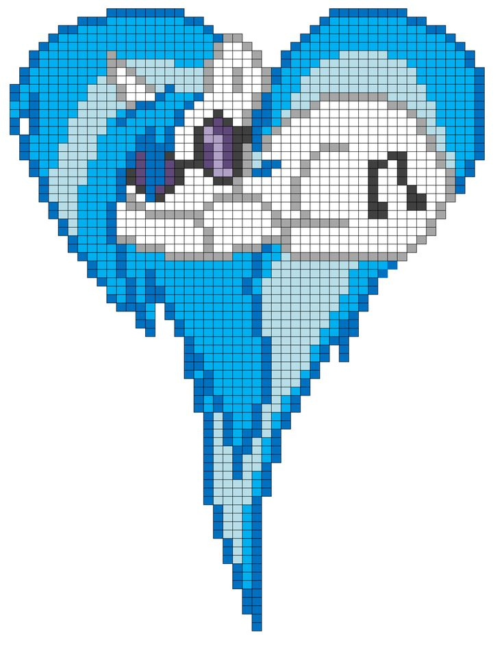 Vinyl Scratch Heart Pixel Art Template By Mlp