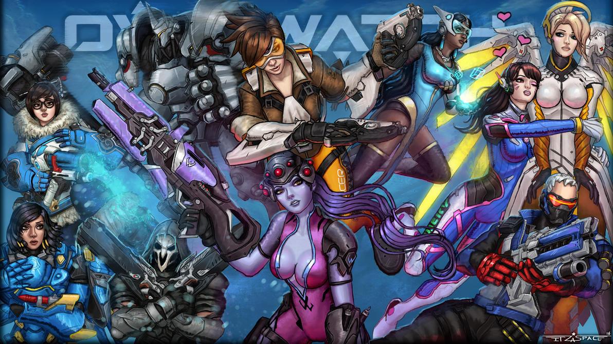 Overwatch heroes wallpaper by itzaspace on DeviantArt