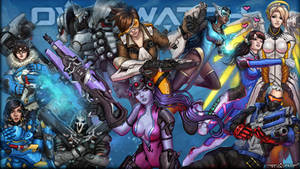 Overwatch heroes wallpaper by itzaspace