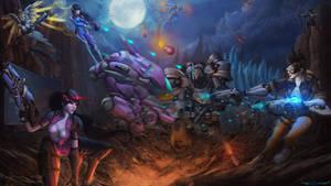 Overwatch Team Fight