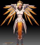 Mercy 3d model fanart 4