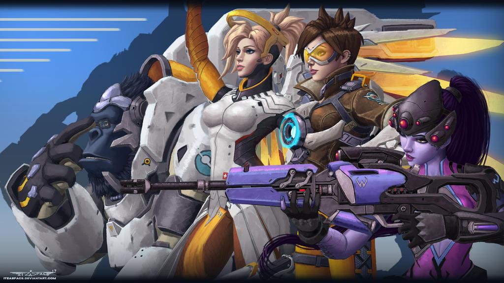 Overwatch Roles fanart by itzaspace