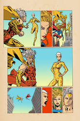 Convergence Supergirl Matrix Page 10 by greenjaygraphic
