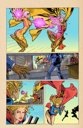 Convergence Supergirl Matrix Page 11 by greenjaygraphic