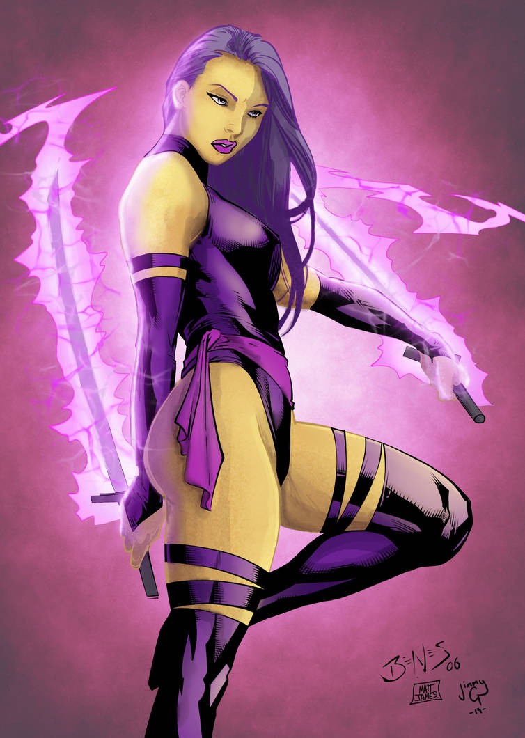 Psylocke by greenjaygraphic